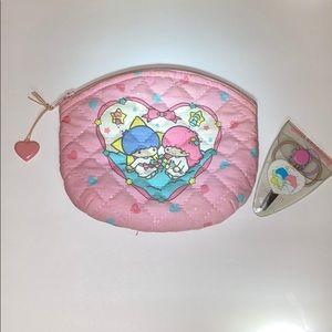 1976 SANRIO Little Twin Stars Scissors & Bag Japan